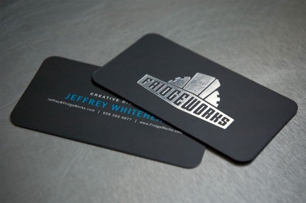 FRIDGE WORKS 40+ Impressive Foil Stamped Business Cards