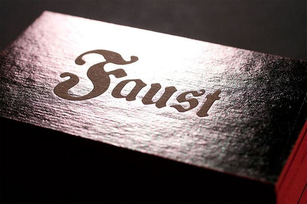 Faust Business Cards 40+ Impressive Foil Stamped Business Cards