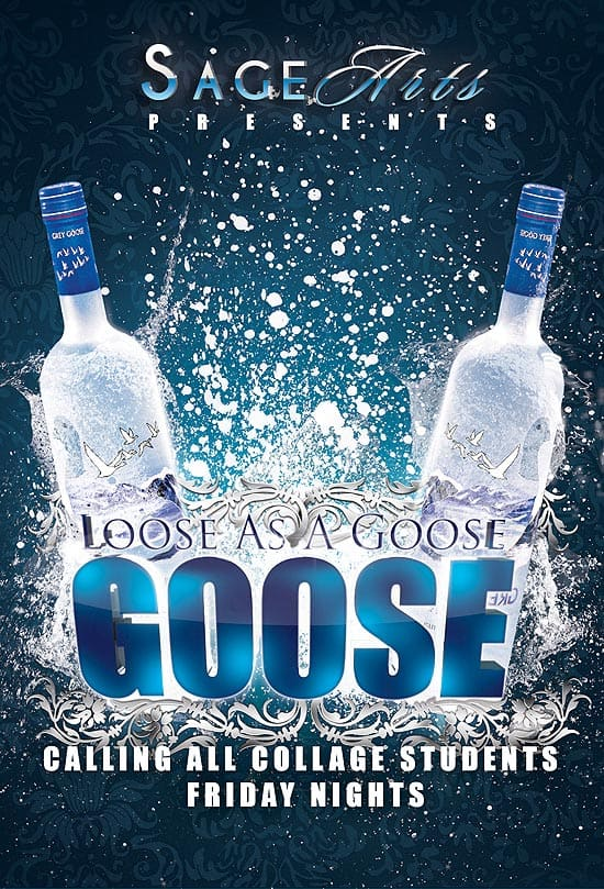 Flyer .Loose As A Goose 35 Free and Premium PSD Nightclub Flyer Templates