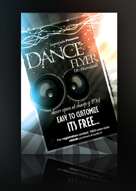 Free Dance Flyer Template 35 Free and Premium PSD Nightclub Flyer Templates