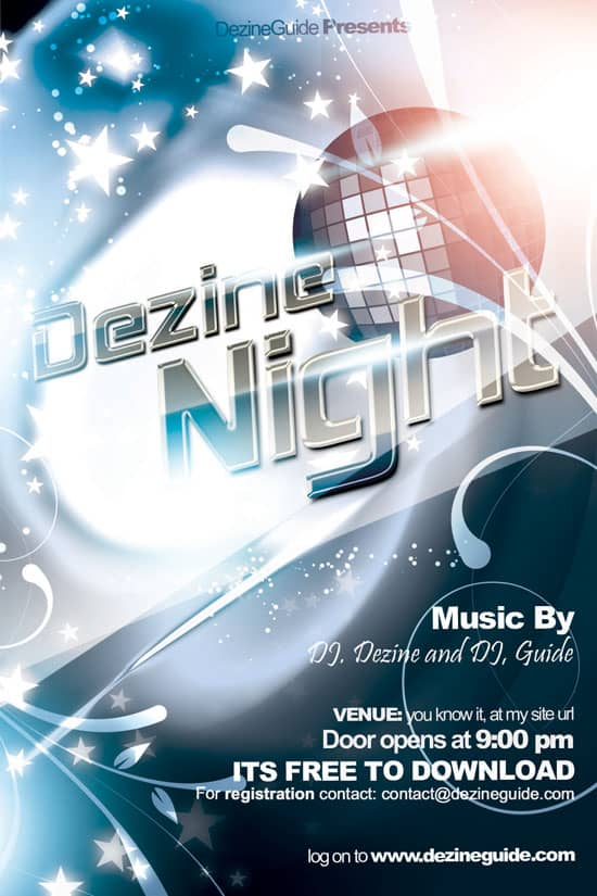 Free Dezine Night Flyer Poster Template 35 Free and Premium PSD Nightclub Flyer Templates