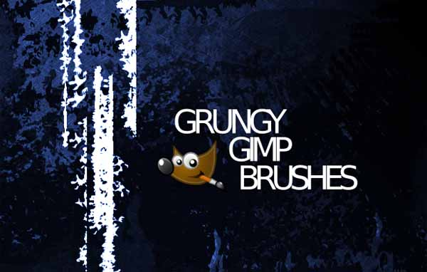 Gimp Grunge 1 by pookstar 20 Photoshop Grunge Brushes