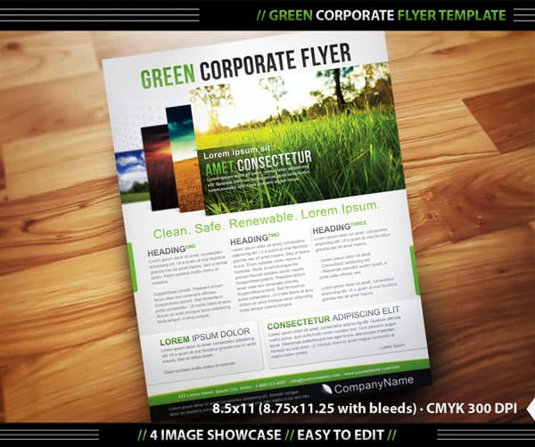 Green Corporate Flyer Template 20 Corporate Business Flyer Templates