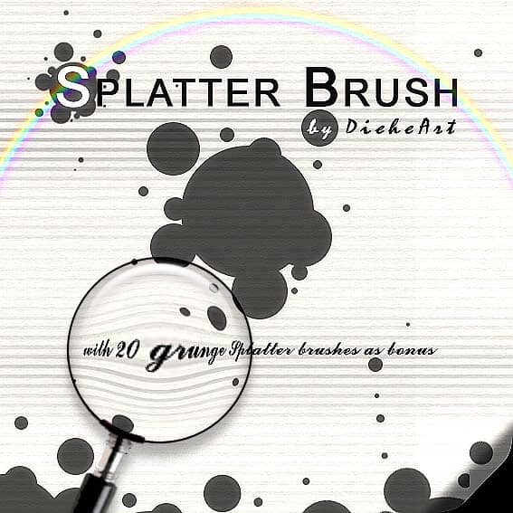 Grunge Splatter Brushes by DieheArt1 20 Photoshop Grunge Brushes
