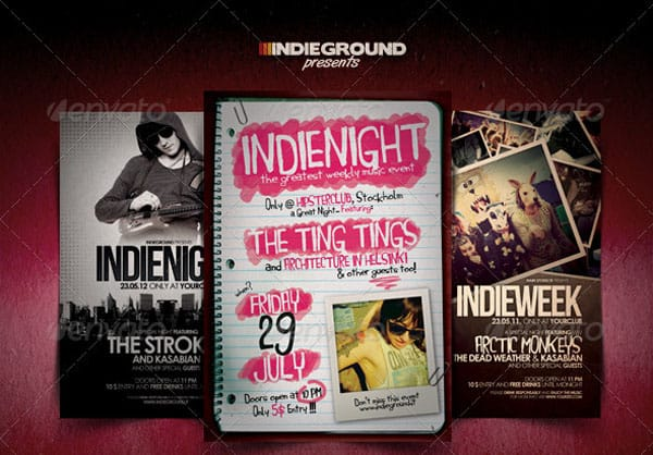 Indie Flyer Bundle 35 Free and Premium PSD Nightclub Flyer Templates