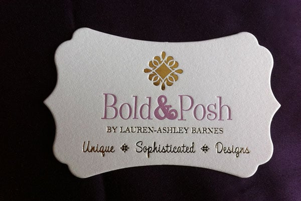 Letterpress Business Card 40+ Impressive Foil Stamped Business Cards