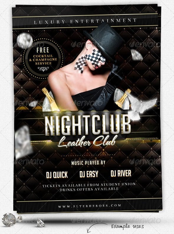 Luxury Nightclub Flyer Template 35 Free and Premium PSD Nightclub Flyer Templates