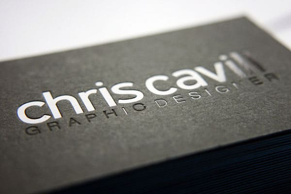 Macro close up 40+ Impressive Foil Stamped Business Cards