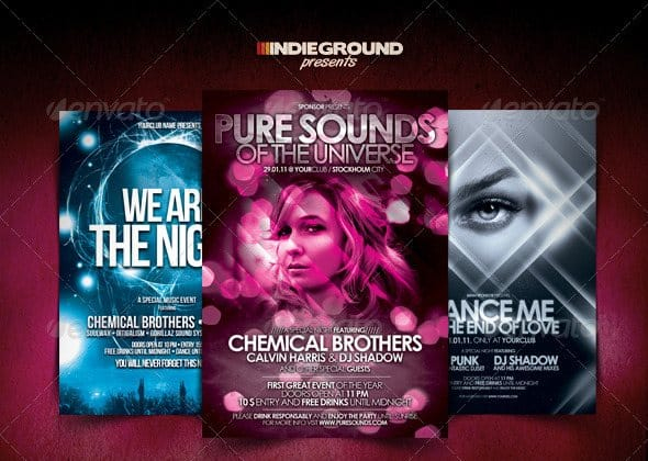 Nightclub Flyer Poster Bundle 35 Free and Premium PSD Nightclub Flyer Templates