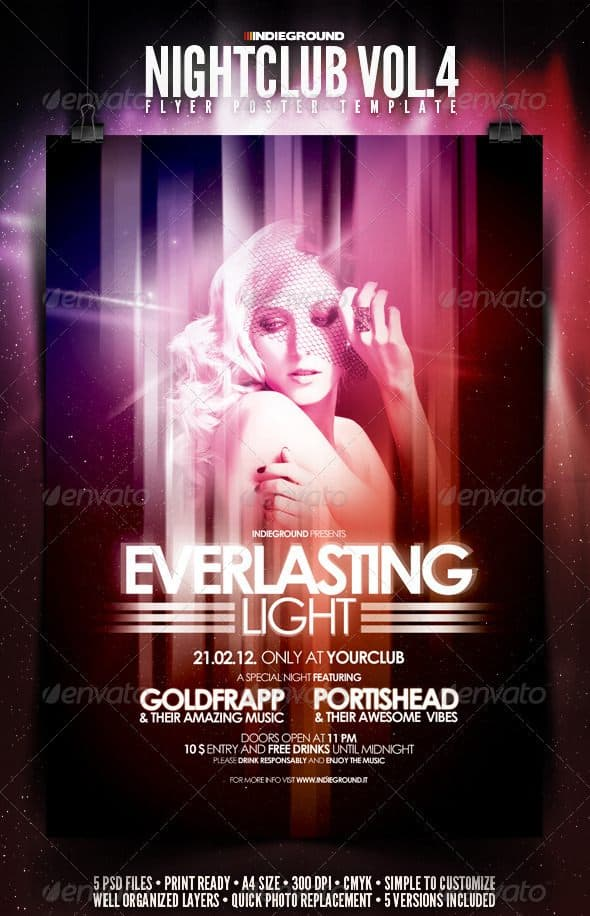 Nightclub Flyer Poster 35 Free and Premium PSD Nightclub Flyer Templates