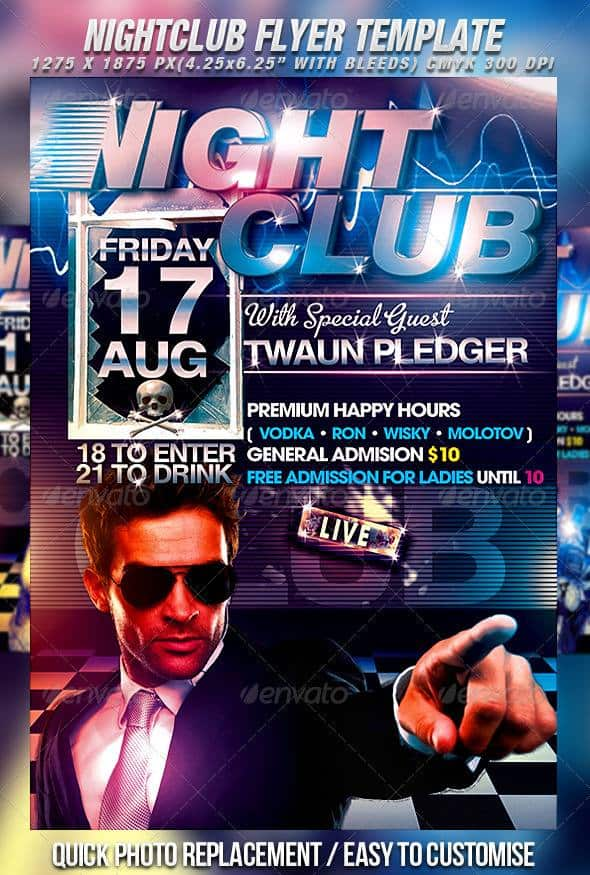 35 free and premium psd nightclub flyer templates for Free club flyer templates