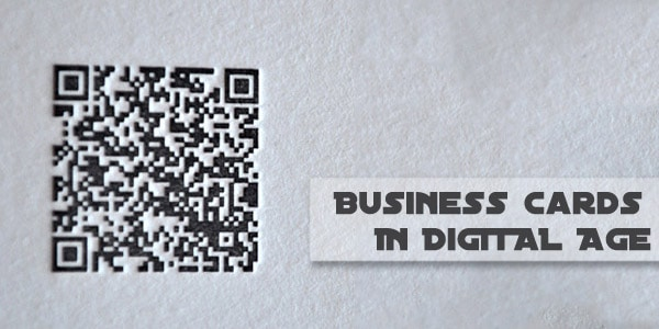 QR business cards The Case For Business Cards In The Digital Age