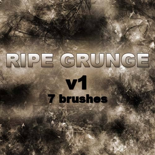 RIPE GRUNGE   7 Brushes by RazorICE1 20 Photoshop Grunge Brushes
