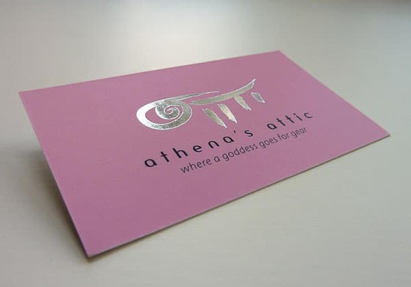 Silk Laminated Business Card1 40+ Impressive Foil Stamped Business Cards