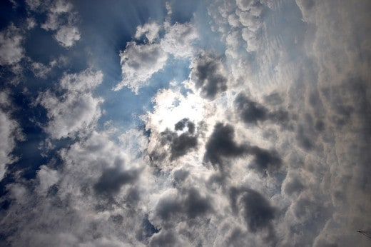Sky Sun And Clouds Texture 520x346 20 Sky Backgrounds Collections