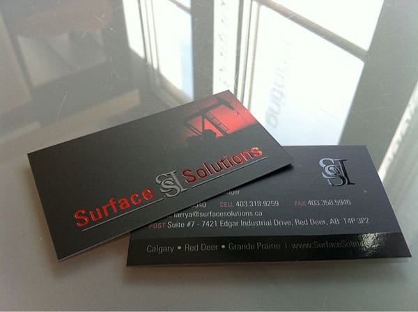 Surface Solutions Business Cards 40+ Impressive Foil Stamped Business Cards