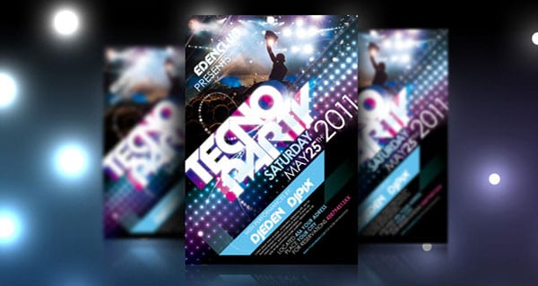 Tecno Party Flyer Template Psd 35 Free and Premium PSD Nightclub Flyer Templates