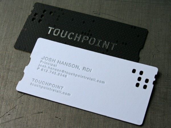 Touchpoint laser Cut 40+ Impressive Foil Stamped Business Cards