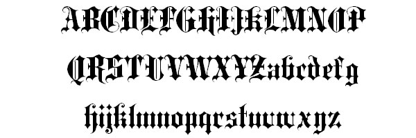 blackletter 25 Old English Letters