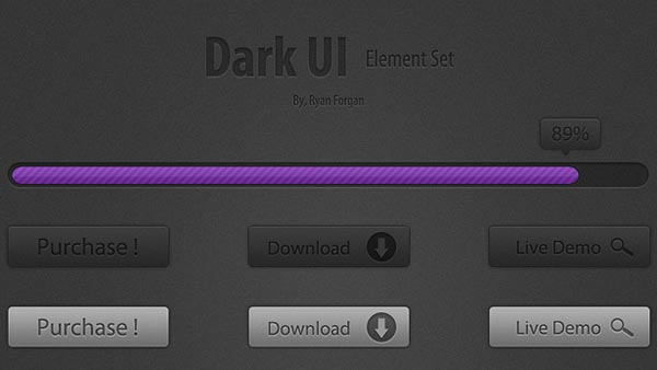 darkuielement Black Web Buttons Templates