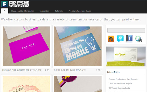 freshbusinesscards 10 Top Business Card Websites