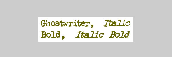 ghostwriter font 25 Old English Letters