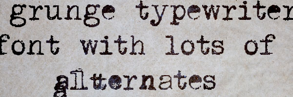 grunge typewriter font 25 Old English Letters
