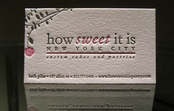 how sweet it is 40+ Impressive Foil Stamped Business Cards