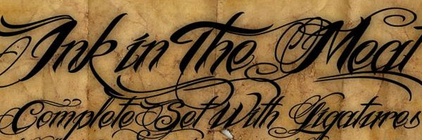 ink script tattoo font 20 Free Script Fonts Collections