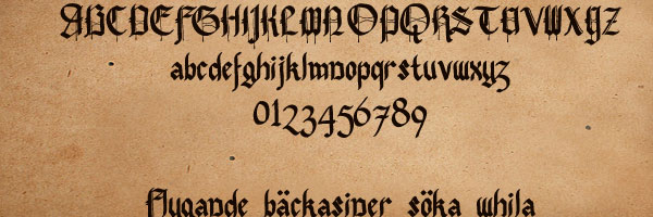 pennybridge 25 Old English Letters