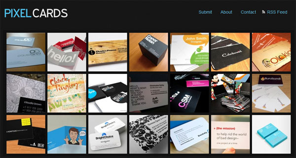 pixelcards 10 Top Business Card Websites