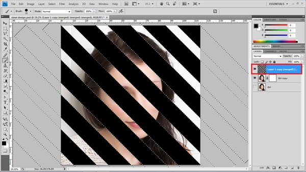 step13 select stripes Create Ravishing Interweaving Photo Strips Effect Using Photoshop