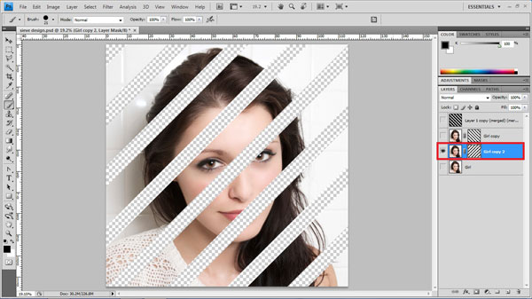 step16 paint mask Create Ravishing Interweaving Photo Strips Effect Using Photoshop