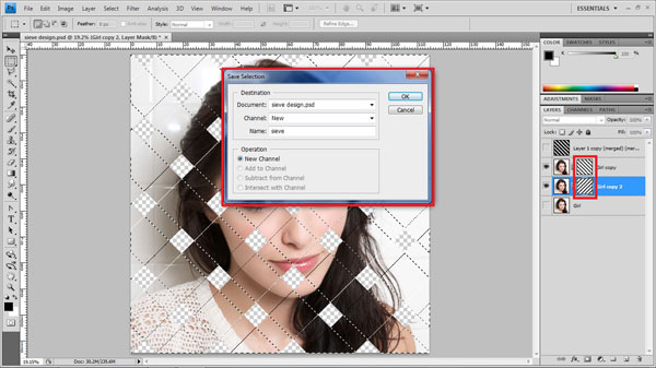 step18 save selection Create Ravishing Interweaving Photo Strips Effect Using Photoshop