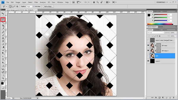 step19 deselect Create Ravishing Interweaving Photo Strips Effect Using Photoshop