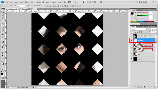 step20 copy masked area Create Ravishing Interweaving Photo Strips Effect Using Photoshop