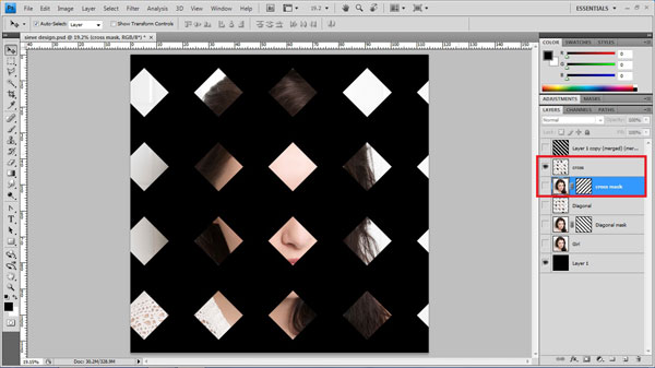 step21 repeat step19 step20 Create Ravishing Interweaving Photo Strips Effect Using Photoshop