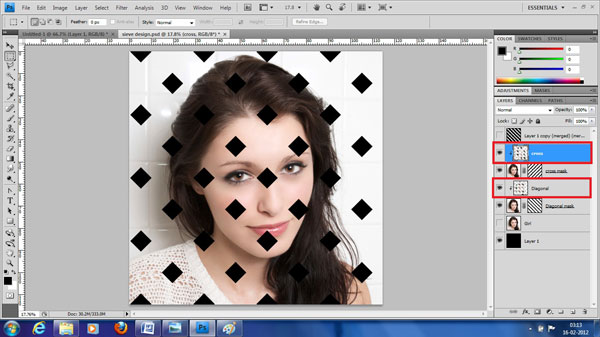 step22 create clipping mask Create Ravishing Interweaving Photo Strips Effect Using Photoshop