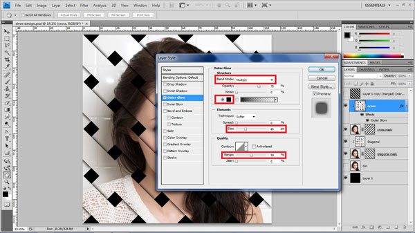 step23 layer style Create Ravishing Interweaving Photo Strips Effect Using Photoshop