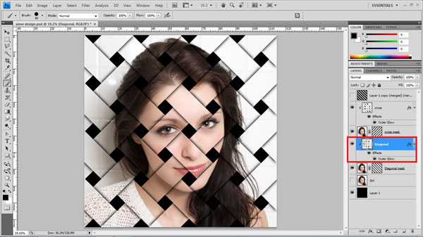 step24 copy layer style Create Ravishing Interweaving Photo Strips Effect Using Photoshop