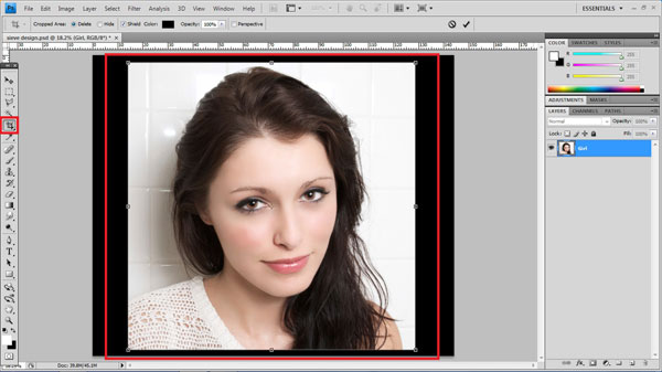 step3 crop Create Ravishing Interweaving Photo Strips Effect Using Photoshop