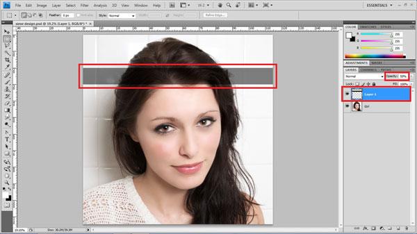 Как сделать в фотошопе полосу