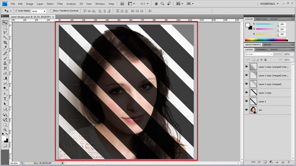 step8 repeat step7 Create Ravishing Interweaving Photo Strips Effect Using Photoshop