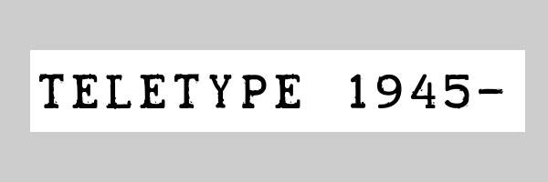 teletype font 25 Old English Letters