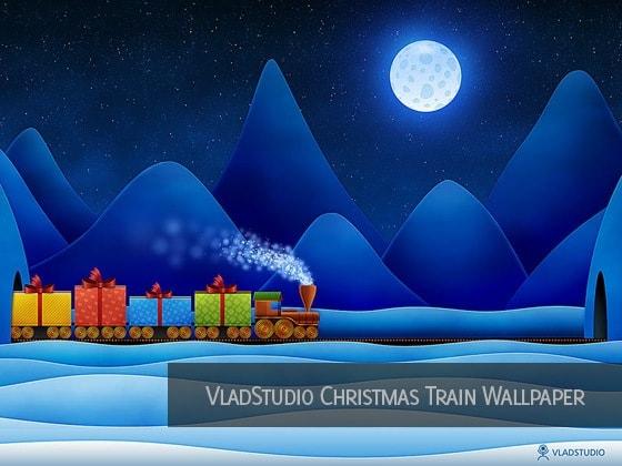 Christmas Train Lights Outdoors