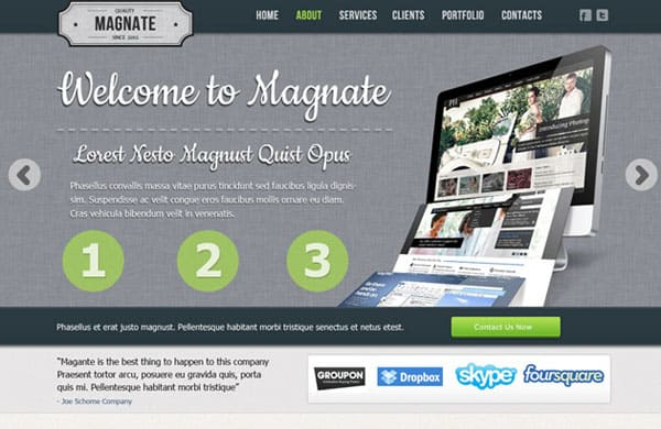 05 35 Stunning and Free PSD Website Templates