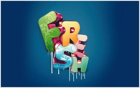 110 25+ Awesome 3D Text Effects Photoshop Tutorials