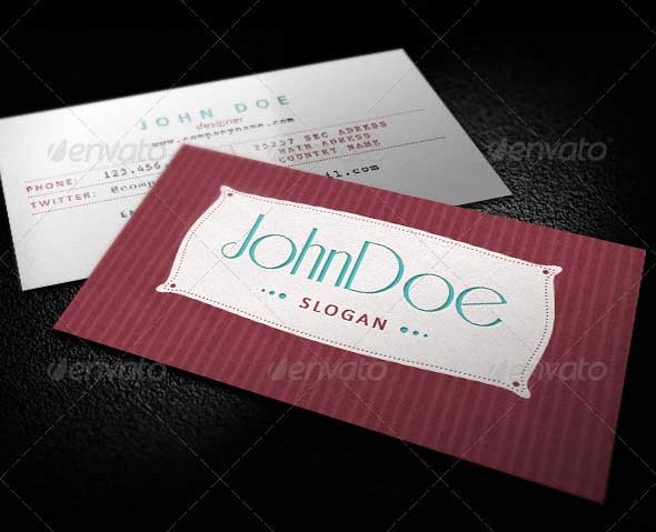 135172 classic retro business card 20+ Impressive High quality Business cards
