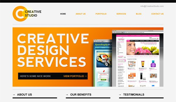 15 35 Stunning and Free PSD Website Templates