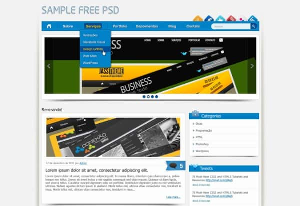 16 35 Stunning and Free PSD Website Templates